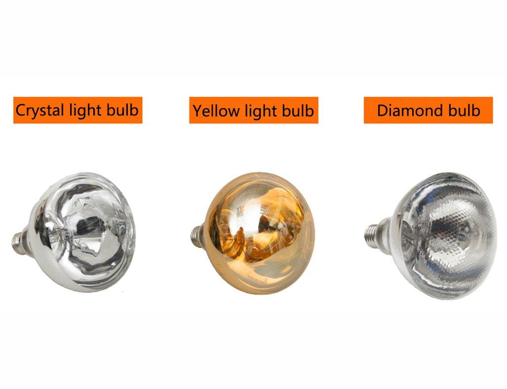 HWF Badezimmer Wärmelampe Decke Badezimmer Wärme Lampe Licht Led Beleuchtung  Dreifach Multifunktions Glühbirne 30 * 30 Cm Deckenleuchten ( Farbe :  Crystal ...