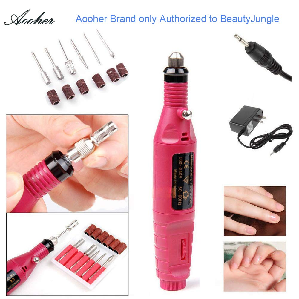 Nail Art Drill KIT , Aoohe Professional Finger Toe Nail Care Electric Nail Polishing Machine Manicure Pedicure Kit Nail