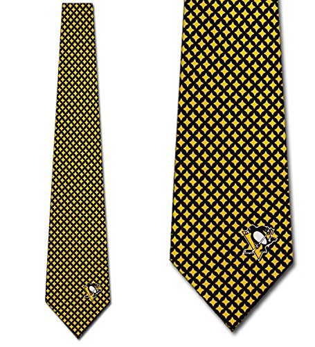 Pittsburgh Penguins Ties Mens Diamante Necktie by Eagles Wings