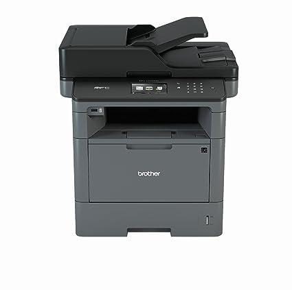Brother MFC-L5700DN - Impresora multifunción láser (250 Hojas, dúplex automático, 9,3 cm, 8000 páginas, USB 2.0 y Ethernet), Negro