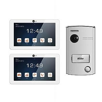 Neolight Video Türsprechanlage 7 Set mit 2 Monitore 2-Draht 7 Zoll ...