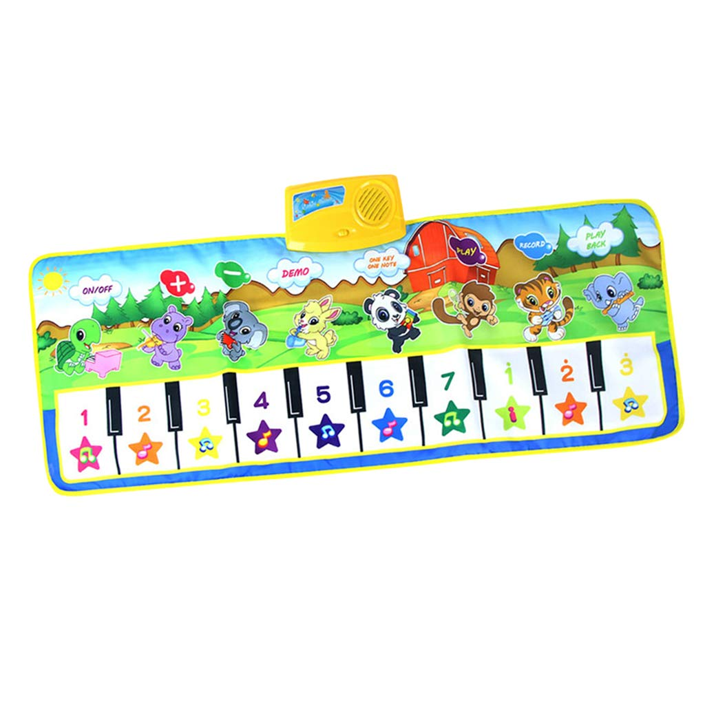 SM SunniMix Durable Piano Mat Electronic Music Carpet Touch Play Blanket, Perfect for Kids 2 to 5 Year Olds Dance & Learn (39x14 inch) by SM SunniMix (Image #1)