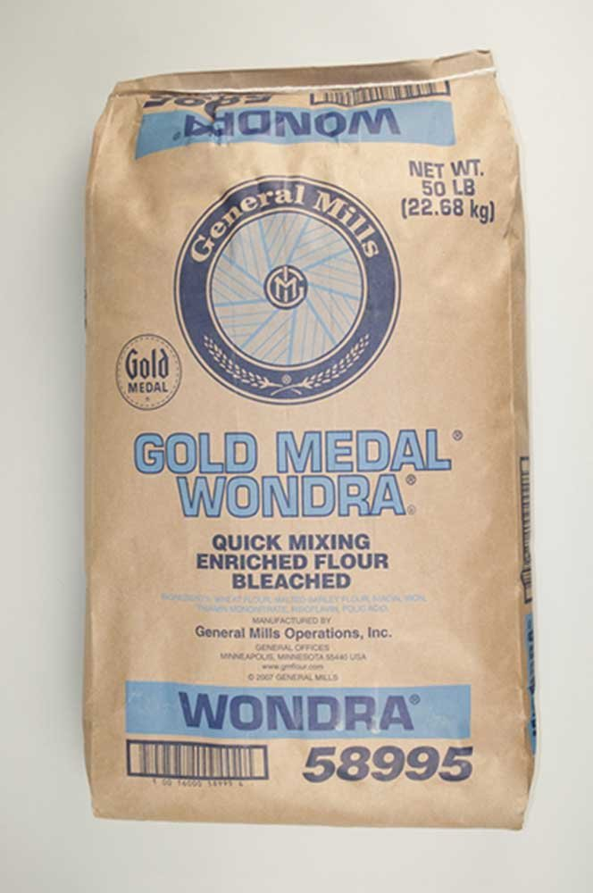 Wondra Bleached Enriched Malted Quick Mixing Instant Flour, 50 Pound - 1 each.