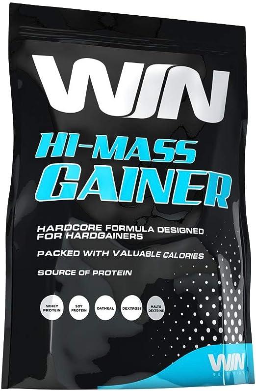 Win Nutrition 100% Hi-Mass Gainer Improved Flavour Fresa - 2268 gramos