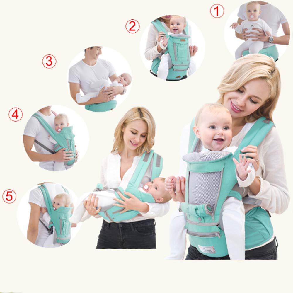 Baby beb/é de la cadera del asiento -Adapt al reci/én nacido G-Tree All-in-One ergon/ómico del portador de beb/é Baby del portador del abrigo con el asiento de la cadera verde