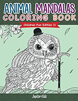 Animal Mandalas Coloring Book Children ebook