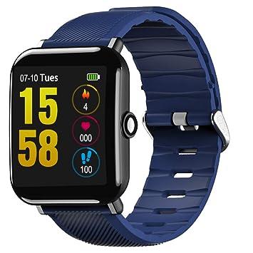 BOBOLover Reloj Inteligente,Pulsera de Actividad Inteligente Reloj Deportivo Reloj Digital Reloj Automatico Pulsómetro Monitor
