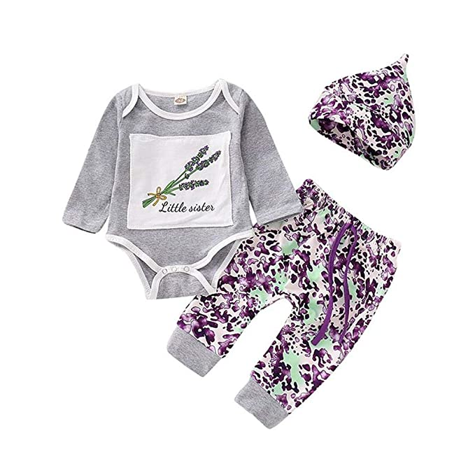 6cfa9620e Amazon.com  4Pcs Baby Boy Girls Outfits Set Infant Toddler Long ...