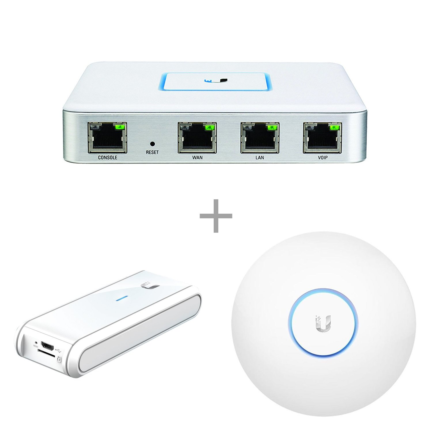 Ubiquiti USG Unifi Security Gateway (1 Item) Bundle with Ubiquiti UC-CK  Unifi Cloud Key - Remote Control Device (1 Item) & Ubiquiti UAP-AC-LR-US  Unifi