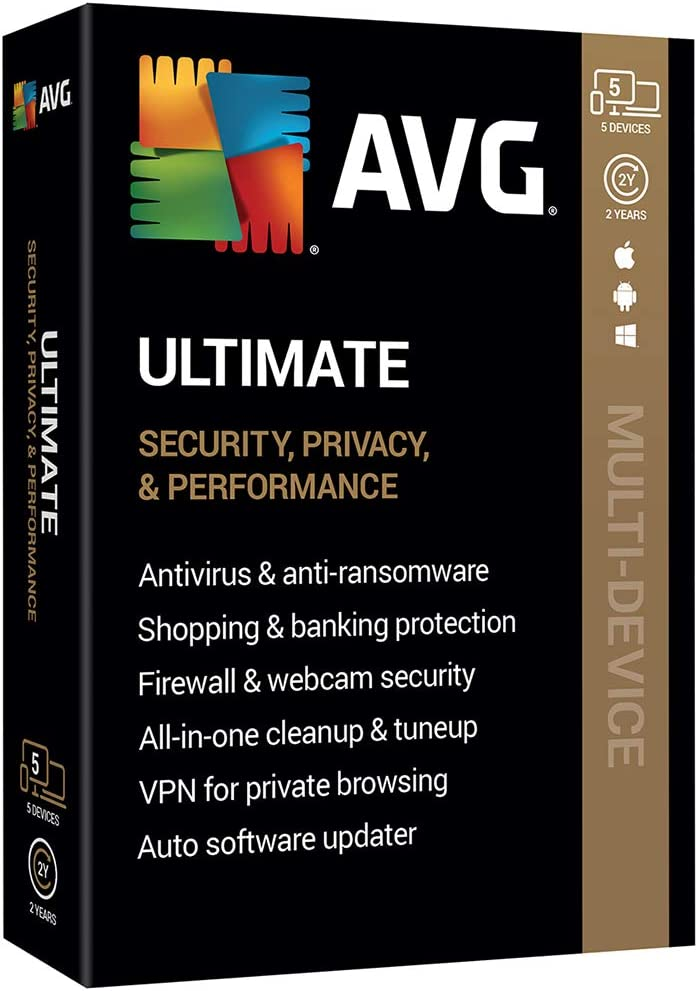 AVG Technologies AVG Ultimate 2020, 5 Devices 2 Year 2020