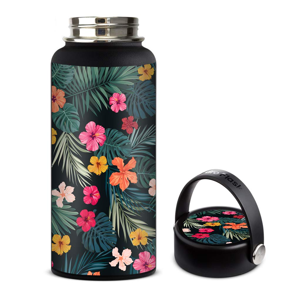 Amazon com skin decal vinyl wrap for hydro flask 32oz wide mouth stickers skins cover hibiscus flowers tropical hawaii kitchen dining