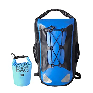 Dry Backpack Waterproof Roll Top Bag for Kayaking Rafting Boating Swimming  Camping Hiking Fishing Floating Beach 6e3b76d1ab403