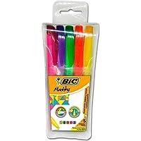 Caneta Marca Texto, BIC, Marking Fluorescentes, 904092, 5 Cores