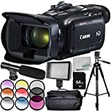 Canon VIXIA HF G21 Full HD Camcorder 9PC Accessory Bundle – Includes 64GB SD Memory Card + 3PC Filter Kit (UV + CPL + FLD) + Tripod + CASE + More - International Version (No Warranty) -  SSE