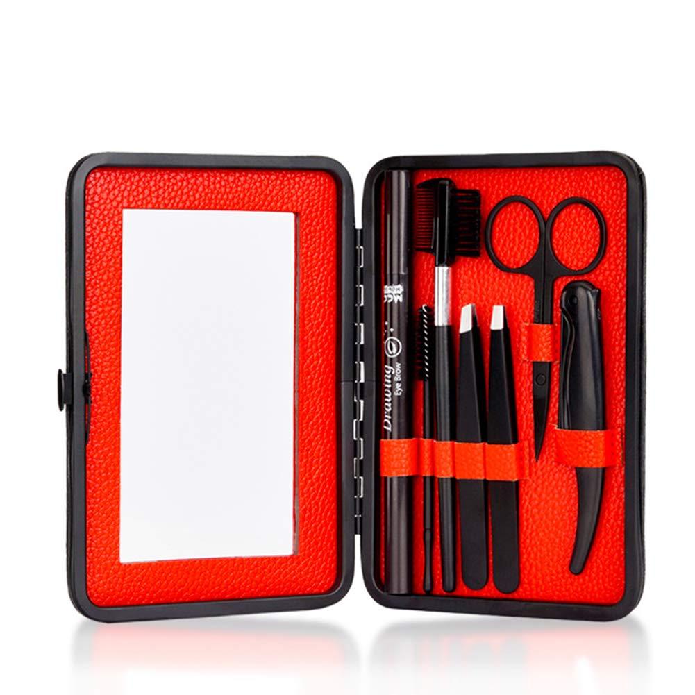7 Pcs/set Men Eyebrow Set Clip Tool Eyebrow Comb Pencil Set Finishing Eyelash Tool