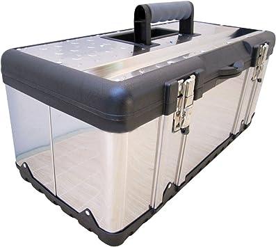 Caja de herramientas caja de material de acero Tipo 302XXL: Amazon ...