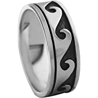 Sterling Silver Wave Ring Size 14