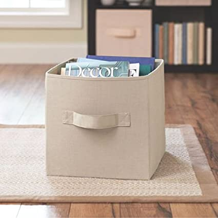 Delicieux Better Homes And Gardens Collapsible Fabric Storage Cube   Tan