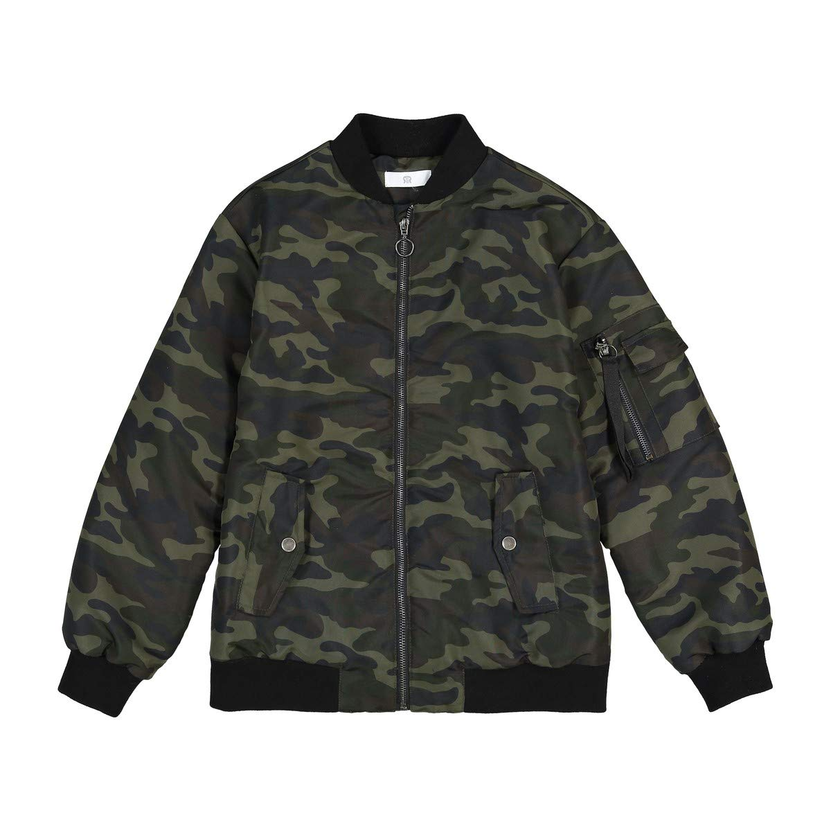La Redoute Collections Big Boys Camouflage Bomber Jacket, 10-16 Years Green Size 14 Years - 63 in.