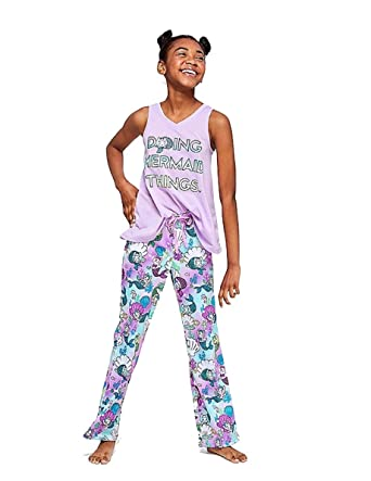 57d89b694 Amazon.com  Justice Doing Mermaid Things Pajama Set Crystal Blue (14 ...