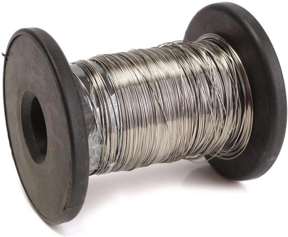 Amazon.com: Rollo de alambre de acero inoxidable 304 de 98.4 ...