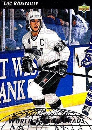 (CI) Luc Robitaille Hockey Card 1992-93 Upper Deck World Junior Grads 20 Luc Robitaille ()