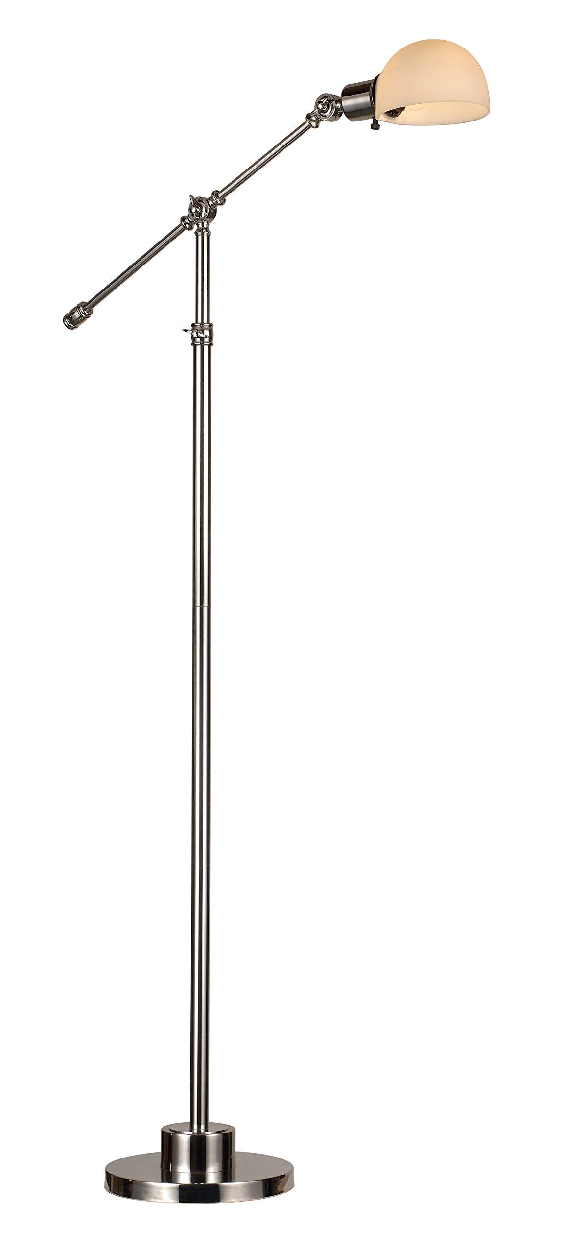 Trans Globe Lighting RTL-8856 Counterbalance Floor Lamp, Nickel