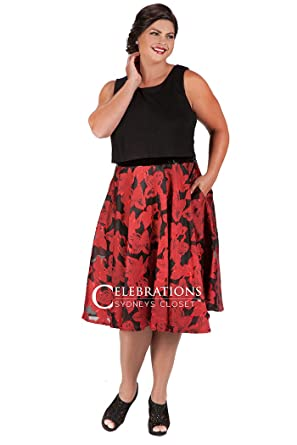Red And Black Organza Plus Size Dress Wedding Guest Dress At Amazon