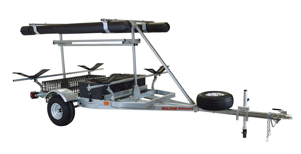 Malone Auto Racks 2 boat ultimate angler trailer package - MegaWing by Malone