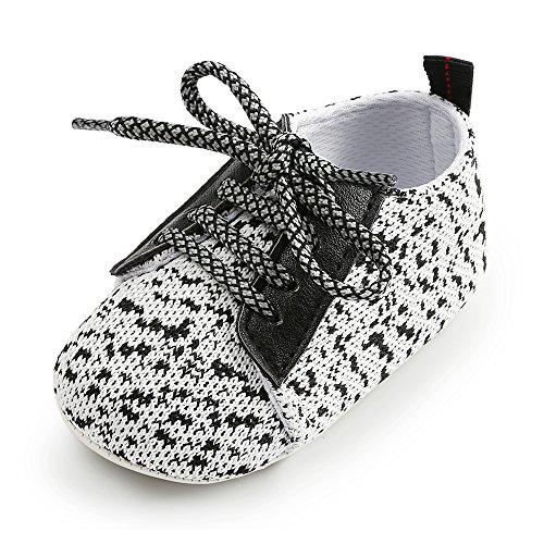 Antheron Baby Boys Girls Anti-Slip Sole Sneakers Breathable Toddler First Walkers Newborn Infant Crib Shoes(White,0-6 - Baby Born Newborn Crib
