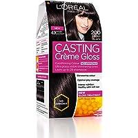 L'Oreal Paris Casting Creme Gloss Hair Color, Ebony Black 200, 87.5g+72ml