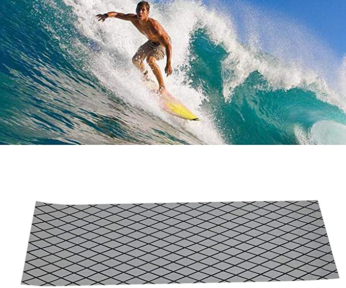 Jadeshay Surfboard Mat,Camouflage EVA Teak Decking Sheet Surfboard Boat Yacht Anti-Skid Mat Carpet Pad Black White Color : Black White