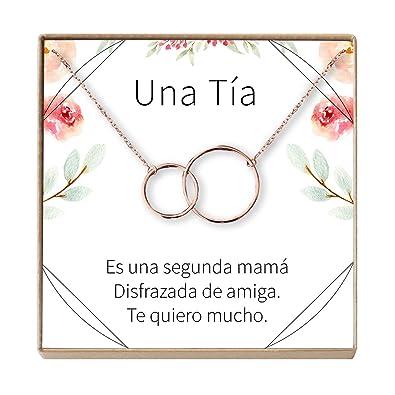 Amazon.com: Collar Regalo para Tía: Joyería, Cumpleaños, Día ...