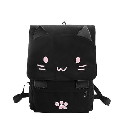 b3e0850d02f2 リュックサック 人気 高校生 女子 大容量 リュック レディース おしゃれ ネコ 猫 バックパック 黒 かわいい