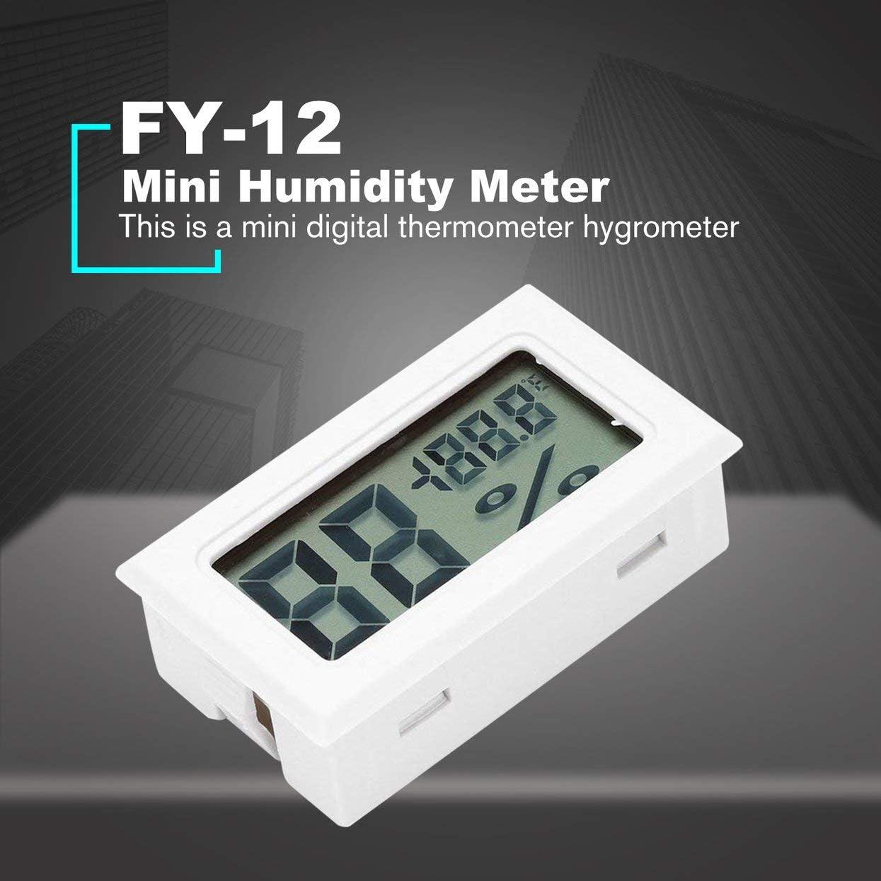 FY-12 Mini Num/érique LED Thermom/ètre Hygrom/ètre Temp/érature Humidit/é Mesure Testeur Moniteur Int/érieur Automobile M/énage