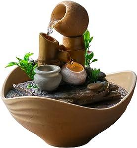 Serene Garden Tabletop Fountain