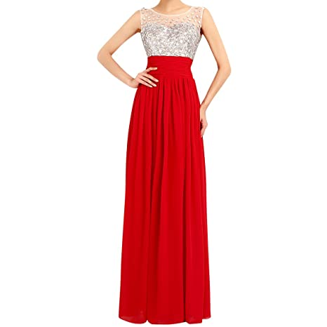 Vestidos rojos largos amazon