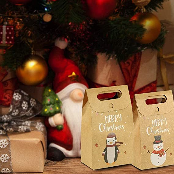 abbx Geschenkt/üten Weihnachten,Geschenkt/üten,Weihnachten Geschenktaschen,Kraftpapiert/üten Weihnachten Geschenkt/üten,Braune Papiert/üten Adventskalender,48 Adventskalender Aufkleber