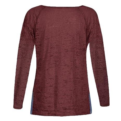 Niña otoño fashion fiesta,Sonnena ❤ Blusa de Patchwork suelta casual con botón Blusa de manga larga Blusas para trabajar y jugar: Amazon.es: Hogar