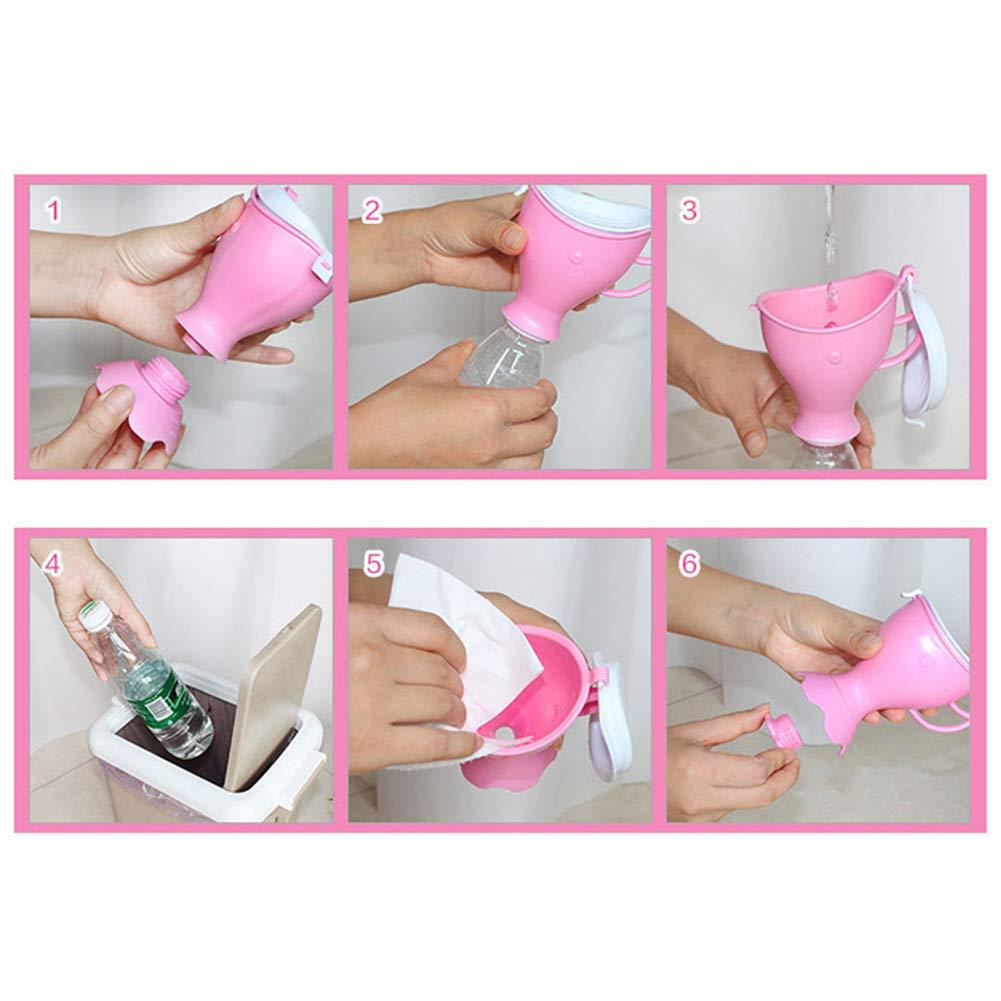 Pink Emergency Urinal Portable Baby Boy Girl Leak Proof Travel Potty Car Toilet