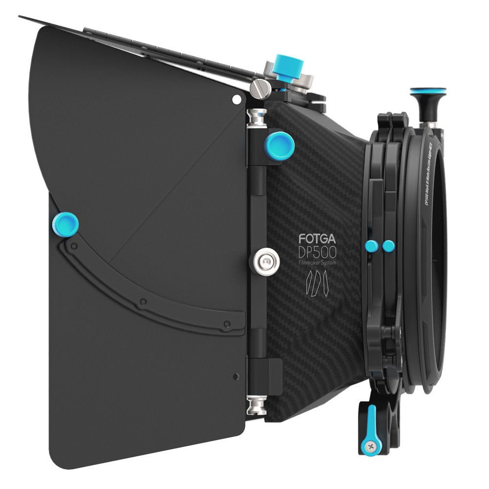 FocusFoto FOTGA DP500 Mark III Professional Metal DSLR Swing-away Matte Box Sunshade with Filter Trays for 15mm Rail Rod Rig System 5D2 5D3 A9 A7 A7R A7S II D850 GH4 GH5 BMPCC BMCC Cine Video Camera by FocusFoto (Image #1)