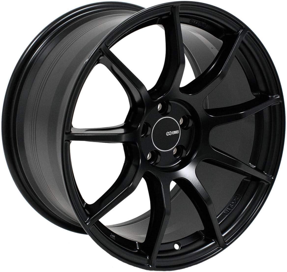 Matte Black 492-885-8040BK 18x8.5 Enkei TS9 Wheels//Rims 5x100