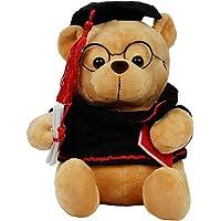 SANA Cotton Stuffed Soft Toys Cute Student Graduate Teddy Bear for Kids - Brown, Dimensions: 30 cm