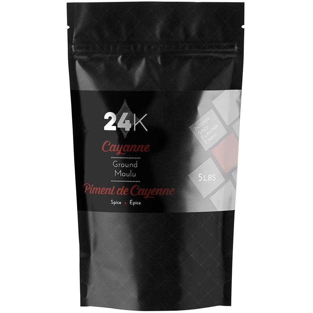 24K Ground Cayenne Pepper - 5 lb (2.27 Kg) by 24KSalt