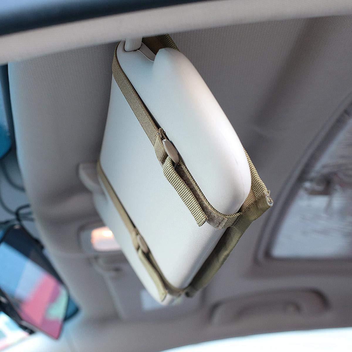 Foonee Molle Vehicle Sun Panel Organizer Pouch Truck Car Sun Visor Holder Bag CD Auto Accessories Holder Pouch Fits Most Vehicles 1 Pcs