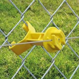 Patriot Electric Fencing Chain Link Insulator Yellow 25/pk