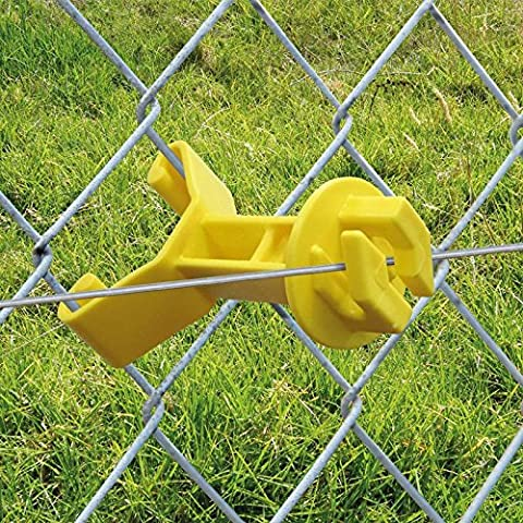 Patriot Electric Fencing Chain Link Insulator Yellow 25/pk - Chain Link Wire