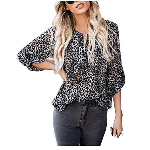 be23c8b547c7d Women Blouse JJLIKER Fashion Leopard Printed Sexy Off Shoulder Top Flare Long  Sleeve Leisure Shirt Black