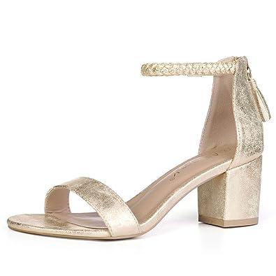 9c44a5ee79 Amazon.com | Allegra K Women Braided Ankle Strap Tassel Block Heel ...