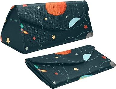 WDDHOME Estuche de gafas de sol para hombre plegable Mysterious World Planet Universe Galaxy Triangle Estuche